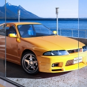 Nissan Skyline R33 sea