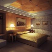 фанерная спальня. ночь