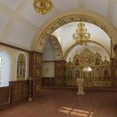 Главный зал будущей церкви св. Николая