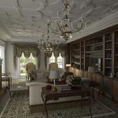 Гостинная-библиотека