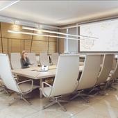 Визуализация офиса. Переговорная.