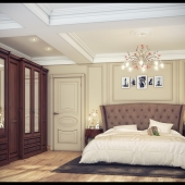 Спальня в частном доме.