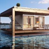 Гостиница на воде, из контейнеров