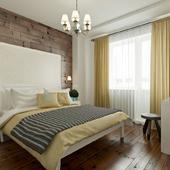 Ретро-современная спальня