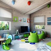 Дизайн игровой комнаты для мальчика и д