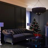 комната с новогодним настроем