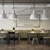Эскизный проект для ресторана быстрого питания .