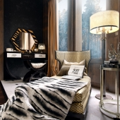 Gatsby inspired art deco bedroom