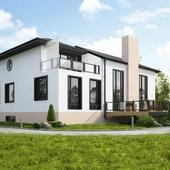 3D визуализация частного дома 2 варианта