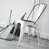 Visualization of Rusty Tolix A Chair in Cinema 4D