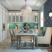 Кухня - Столовая. Романтичная классика