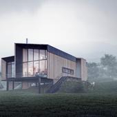 Визуализация модульного дома