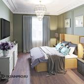 Спальня в квартире на Беговой