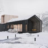 Еще один модульный дом и немного зимнего настроения