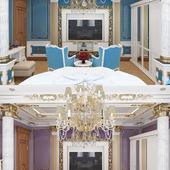 Cпальня в классическом стиле