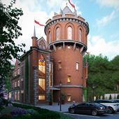 Реконструкция водонапорной башни 1947 года под ресторан.