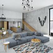 Проект частного дома (обновленная визуализация)