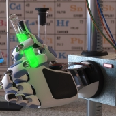 Robot young chemist