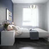 Спальня с мебелью IKEA