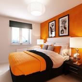 Гостиничный номер. Оранжевая комната