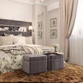 Спальня в современной классике.