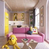 """Проект квартиры в скандинавском стиле. """"Adventure time"""""""