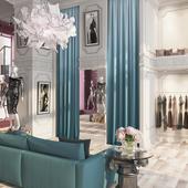 Проект интерьеров бутика женской дизайнерской одежды