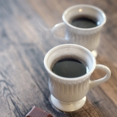 Coffee Cup and Chocolate