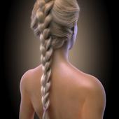 Girl hair render type 3 ( Vray )