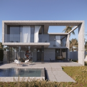 Concrete house in Alicante, Spain.