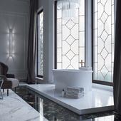 Конкурсная работа ванной комнаты с продукцией SaliniS.r.l. (ZOE)