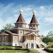 Церковь из дерева