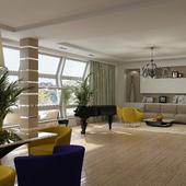 Гостиная-студия в современном стиле