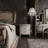 Classic interior. Bedroom