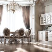 Classic interior. Kitchen