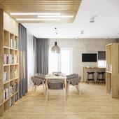 Кухня-студия в частном доме