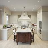 Light classic kitchen