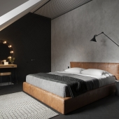Design of attic bedroom