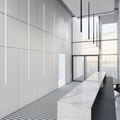 Визуализация холла в бизнес-центре