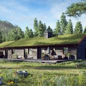 Wooden house in Sweden