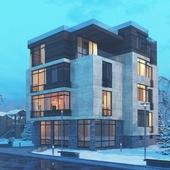 Многоквартирный жилой дом в поселке Сосны
