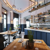 "The restaurant ""Social 1 "" vizualisation"