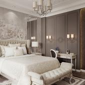 Спальня в легкой классике