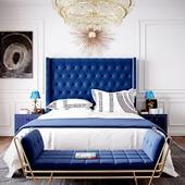 небольшая спальня в стиле ар-деко