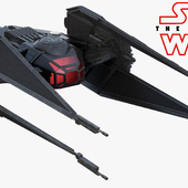 Star Wars Last Jedi Kylo Ren TIE silencer