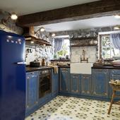 Кухня с старом доме на юге Франции