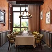 приватная комната в ресторане