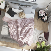 3d visualization of apartment in Scandinavian style