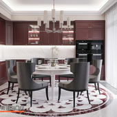 """Кухня-гостиная в """"элегантном"""" стиле"""