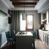 Кухня в Скандинавском стиле (квартира)